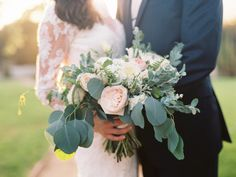 Photography : Diana McGregor | Floral Design : The Little Branch | Wedding Dress : Essense Of Australia Read More on SMP: http://www.stylemepretty.com/2015/11/30/classic-summer-wedding-at-the-adamson-house/