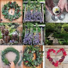 Wreaths, lavender, preserving plants for making beautiful things. A year of garden therapy. River Rock Landscaping, Landscaping With Rocks, Garden Landscaping, Christmas Diy, Christmas Wreaths, Holiday, Fresh Wreath, Indoor Water Garden, No Waste