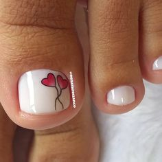 Toe Nail Designs, Simple Nail Designs, Nail Polish Designs, Toe Nail Art, Toe Nails, Mani Pedi, Manicure, Close Up, Nailart