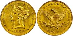1852 O $10 Gold MS60 PCGS sold for $111,625 at the Stack's Bowers Galleries Rarities Night Auction in Baltimore, Maryland, November 2-4, 2016...The 1852 O $10 Gold is an extremely rare coin with just three coins certified in Mint State; the highest is MS61. There are only 184 coins certified in all circulated grades. With the recent auction sale, the MS60 Market price has jumped to $28,500; this is an increase of over 70%...
