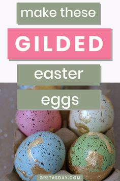 Make these fun and elegant gold leaf eggs for Easter - and beyond. They're a great adult DIY craft project that is oh so easy and looks amazingly elegant. Perfect for Easter, and any Cottage Chic, Shabby, or Farmhouse home decor style. Diy Craft Projects, Diy And Crafts, Glitter Crafts, Amazing Crafts, Gold Diy, How To Make Diy, Home Decor Styles, Cottage Chic, Gold Leaf