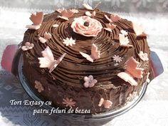 diana's cakes love: Tort Extasy cu patru feluri de bezea Birthday Cake, Cooking, Cakes, Desserts, Food, Kuchen, Kitchen, Tailgate Desserts, Deserts