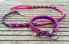 Beautiful and Colourful Handmade Dog Leash and Collar. Made by Creative Dog
