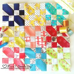 Long Time Gone Quilt --I can't believe another week has gone by! I am just in LOVE with this quilt! Every new section has made me smile:) I am joining Gnome Angel in this Sew-along Quilt-along. The patt…