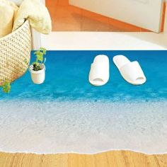 SHARE & Get it FREE | Chic Beach Pattern Removeable Floor StickersFor…