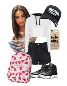 by arikaijones on Polyvore featuring polyvore, fashion, style, Topshop, NIKE, Roxy, Casetify and clothing