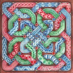 Enthusiastic Artist: Celtic knot tangle sampler