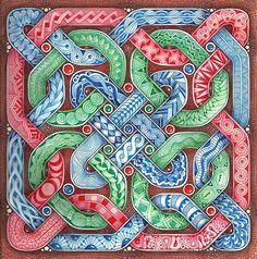 Enthusiastic Artist: Celtic knot tangle sampler