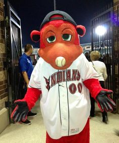 Rowdie the Indianapolis Indians mascot at Victory Field. #IndySATW