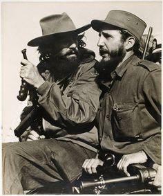 Fidel Castro and Camilo Cienfuegos Havana Cuba 1959 inches photo - Repro Cienfuegos, Fidel Castro, Die A, Che Guevara, Viva Cuba, Cuban Art, Karl Marx, Havana Cuba, Black And White