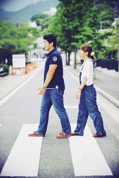 普段着でエンゲージメントフォトウェディング。兵庫県芦屋市でロケ撮影。