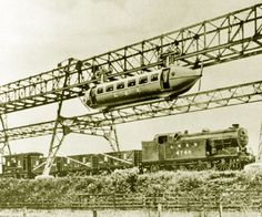 A prototype ran over a 130-yard (120 m) line at Milngavie near Glasgow, Scotland in the 1930s, but Bennie was never able to secure funding for further development and went bankrupt in 1937. The line was demolished for scrap in the 1950s.