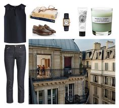 """Hello Paris"" by maidensblush ❤ liked on Polyvore featuring A.P.C., Gucci, Chrome Hearts and Diptyque"