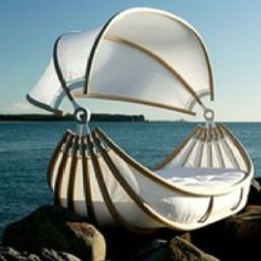 Buy Romantic Outdoor Floating Canopy Bed Design With Titanic Style at Wish - Shopping Made Fun Cinderella Bed, Floating Canopy, Creative Beds, Creative Design, Blitz Design, Console Design, Beach Bedding, Canopy Outdoor, Outdoor Beds