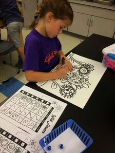 Jamestown Elementary Art Blog: 1st grade - Roll a Flower - Like this idea!