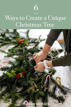 With the right tools, you can tailor your tree project to suit your space—which means that it is time to break out your best-crafting supplies. Our experts share six DIY Christmas decorating ideas that will help you deck your halls with nontraditional Christmas trees. #marthastewart #christmas #diychristmas #diy #diycrafts #crafts