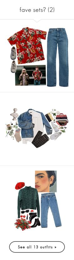 """fave sets (2)"" by xeptum ❤ liked on Polyvore featuring MSGM, Superga, Kikkerland, Wrangler, Plein Sud, NIKE, I Like Birds, SCHO, Bare Escentuals and Sia"