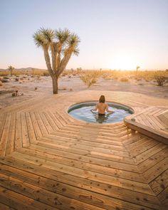 This Saltwater Pool in The Mojave Desert Is Not a Mirage Joshua tree Jacuzzi, Home Design, Desert Aesthetic, Stock Tank Pool, Desert Dream, Mojave Desert, Patio, Backyard, Desert Homes