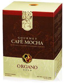 Gourmet Café Mocha  Decadent und Schmackhaftigkeit gehen Hand in Hand mit diesem luxuriösen Getränk einher. Indem unser Qualitätskaffee mit feinstem Kakao und unserem renommierten Ganoderma versehen wird, bietet ORGANO™ Gourmet Café Mocha den reichen, kakaohaltigen Kaffegeschmack, den Sie von einem Mocha erwarten. Perfekt geeignet nach dem Abendessen oder einer nachmittäglichen Stärkungsmahlzeit.