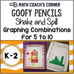 The ability to fluently decompose numbers (break them into smaller chunks) is foundational for fact fluency.  This engaging Shake and Spill game is easy to differentiate based on student ability.  The graphing component creates connections across CCSS mathematical content standards.This set includes a Shake and Spill mat, students directions, and six graphing printables for recording combinations for the numbers from 5 to 10.Download the preview to see Teacher Notes with instructional…