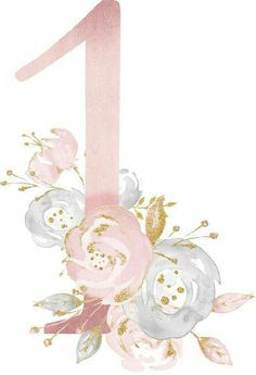 Watercolor Flowers, Watercolor Art, Image Deco, Letters And Numbers, First Birthdays, Illustration, Iphone Wallpaper, Diy And Crafts, Clip Art