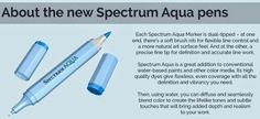 Crafter's Companion USA Information Blog : Introducing Spectrum Aqua (water based markers)