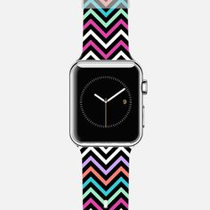 Colorful Modern Chevron Apple Watch Band by Organic Saturation | Casetify Get $10 off using code: 53ZPEA