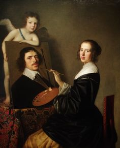 "classic-art: "" Allegory of Painting Gerard van Honthorst, 1648 """
