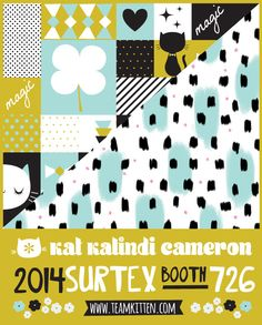 #surtex preparations!! here is one of my web promo cards #artlicensing #cute Kat Kalindi Cameron