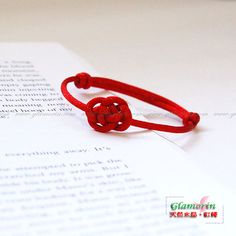 EVER REMEMBER, HEARTS KNIT TOGETHER Red String Bracelet Lucky Cloud Chinese Knot Kabbalah Friendship Thread Fibre Bracelet macrame