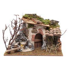 Casolare in gesso con olive per presepe 20x30x25 cm Diorama, Decoration, Diy Home Decor, Olive, Wood, Outdoor Decor, Crafts, Fairies, Christmas
