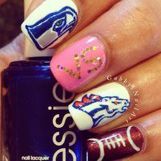 superbowl by gabbysnailart #nail #nails #nailart