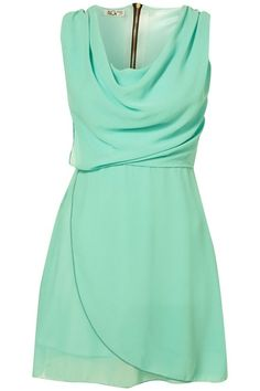 mint bridesmaid dress; cute, they can wear it again!