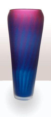 Large Aurora Vase, hand blown Art-Glass, 30cm x 11cm, signed by artist Rebecca Morgan    Potter Morgan Glass Studio ♥≻★≺♥