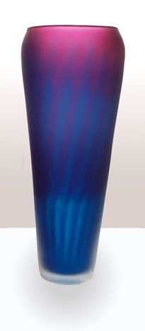 Large Aurora Vase, hand blown Art-Glass, 30cm x 11cm, signed by artist Rebecca Morgan |  Potter Morgan Glass Studio ♥≻★≺♥