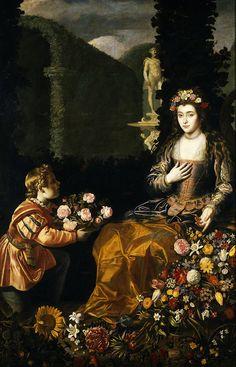 Juan van der Hamen: Offering to Flora, 1627.