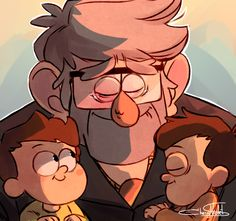 Grunkle Stan loves his twins!