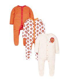 Little Lion Sleepsuits - 3 Pack