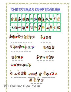smcc crypto | CHRISTMAS CRYPTOGRAM worksheet - Free ESL printable worksheets made by ...