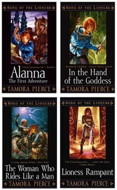 Song of the Lioness series by Tamora Pierce http://www.goodreads.com/series/43928-song-of-the-lioness