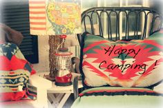 shabby chic cottage bungalow cabin decor Happy Camping