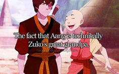 0.o Oh God... nope nope nope, brain going into shutdown mode right now... Which means that Katara married Zuko's great-grandpa... Well there goes my Zutara hopes on ANY level