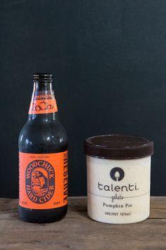 Talenti Pumpkin Pie gelato + hard cider = best friends. Floats are no longer just for summer.