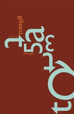 Gill Sans Poster. Ho scelto questo poster per il font utilizzato. Mi piacerebbe usare Gill Sans per il mio lavoro.
