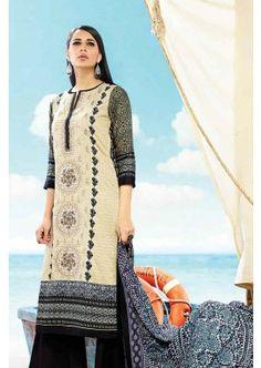 Cream, Black Cotton Salwar Kameez, - £74.00, #IndianSuit #OnlineDresses #FashionUK #Shopkund