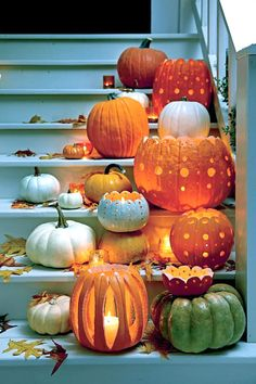 Carve a Pattern - Fabulous Fall Decorating Ideas