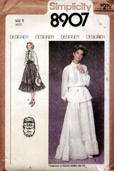 Gunne Sax Simplicity pattern-my bridesmaid dresses, still have this pattern!