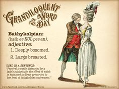Grandiloquent Word of the Day: Bathykolpian Unusual Words, Rare Words, New Words, Powerful Words, Fancy Words, Cool Words, Idioms And Proverbs, Ancient Greek Words, Writers Help