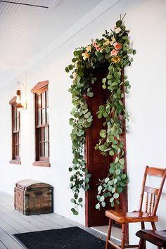 garlands in the doorways