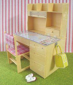 Re-ment / Rement Miniatures : Student Desk by HarapekoDoggyBag, via Flickr